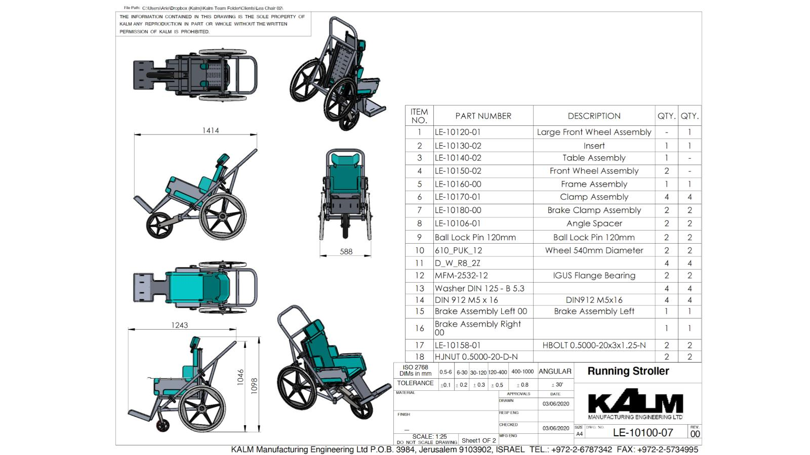 Kalm Projects (16) Custom Made Wheelchair